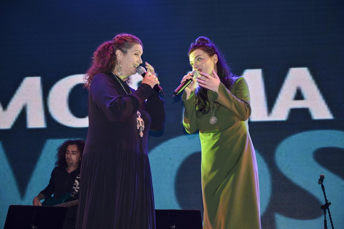 The initiators of the Vjosa concert: amazing Eda Zari (left) and fabulous Elina Duni (right) © Moris Rama