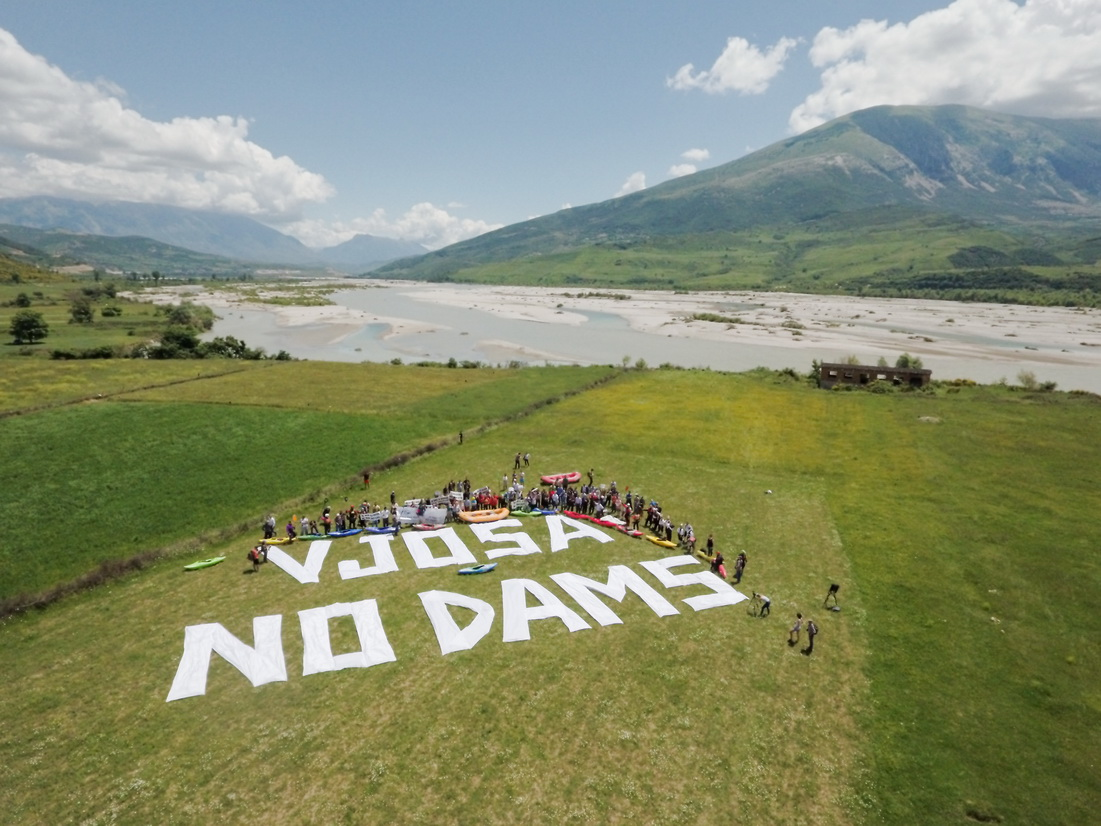 The Vjosa must remain dam-free. Today, a lawsuit was filed against the hydropower project Poçem. © Oblak Aljaz