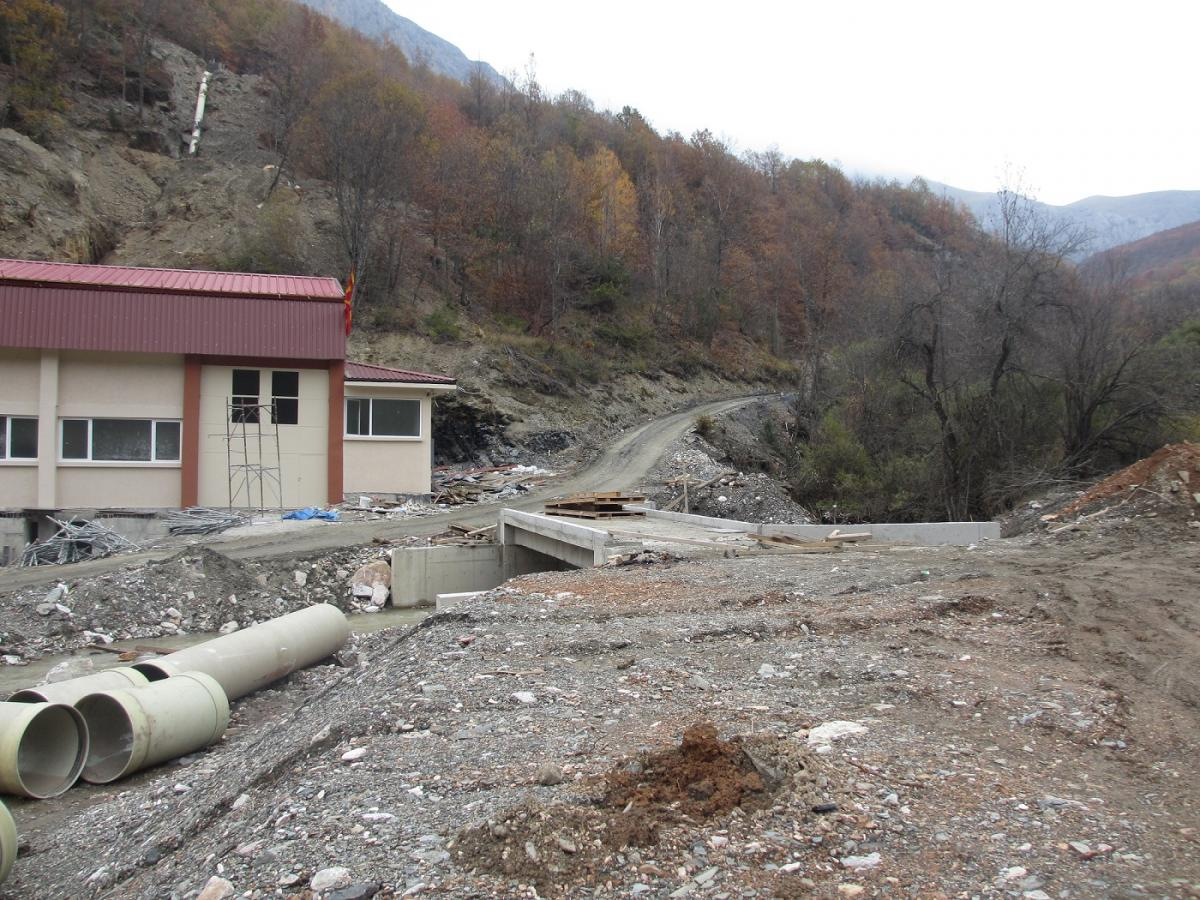 HPP Treseonce construction on the Tresonecka River in Mavrovo National Park, 2013. © 21/42