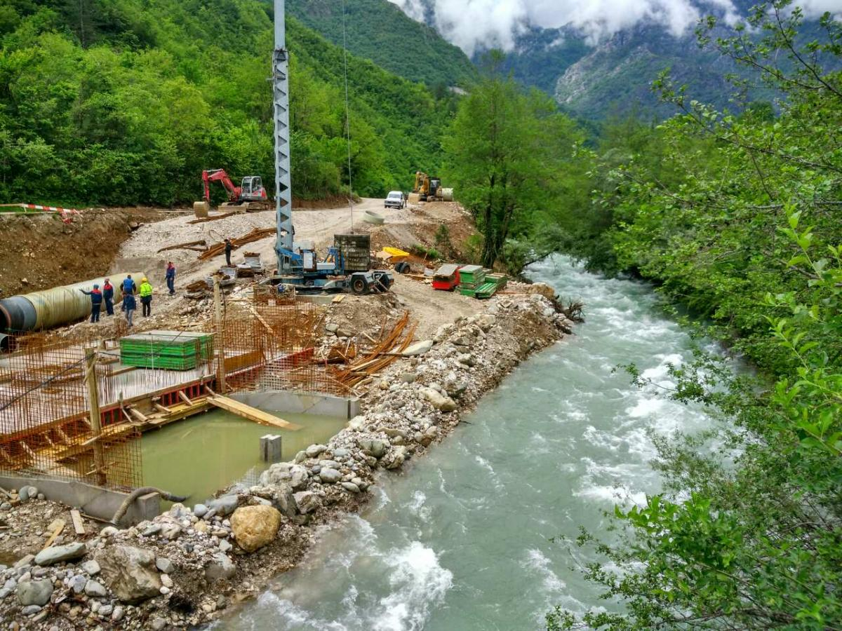 This is what devastation looks like: hydropower construction site on the Doljanka River. Photo: Milos Orlic