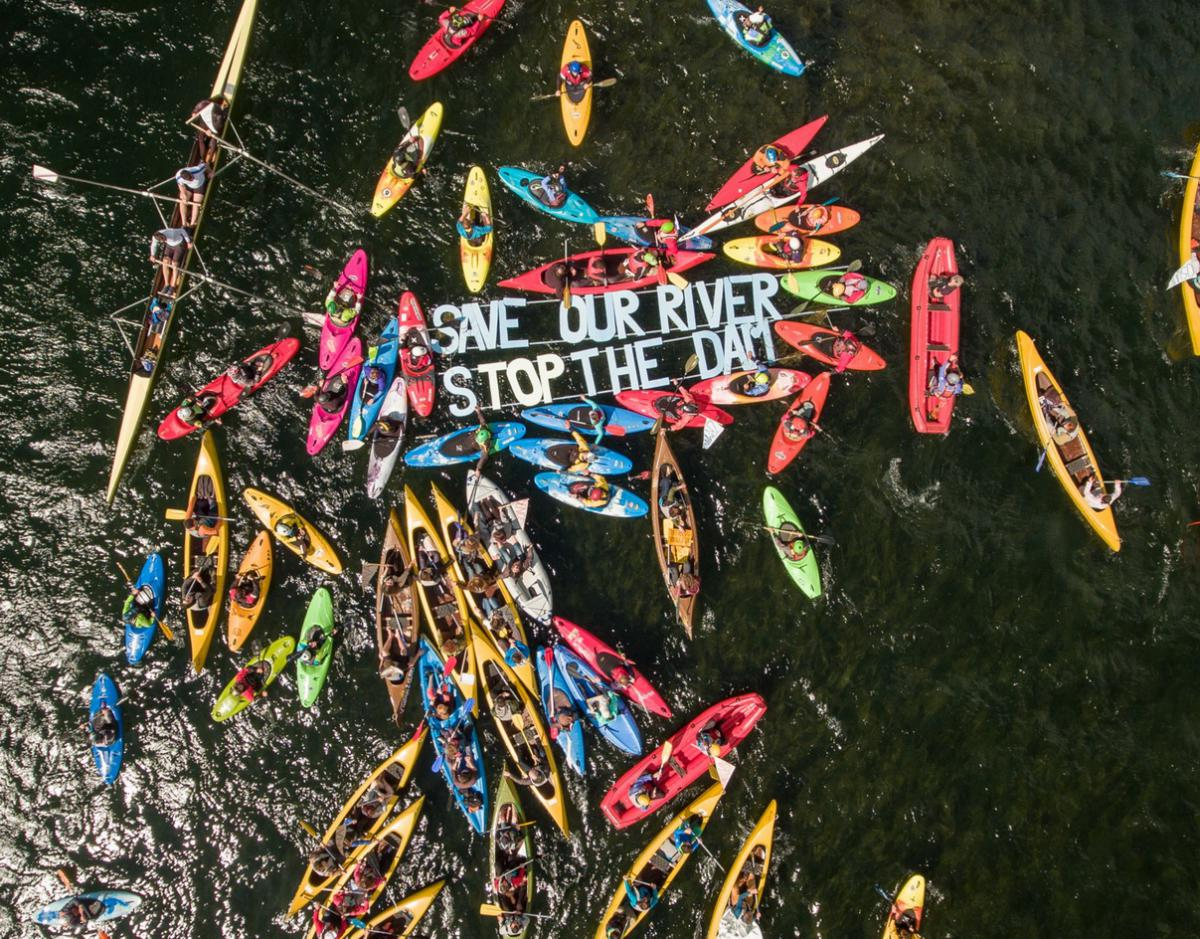 Paddling against the dam tsunami | Save the Blue Heart of Europe