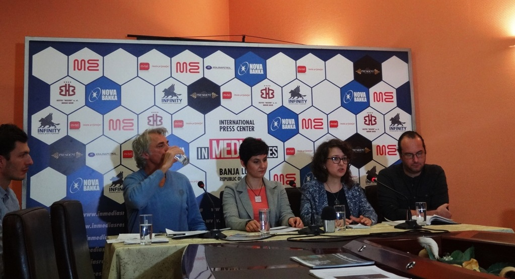At the press conference in Banja Luka, November 27. Photo: Jasmin Pašić