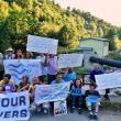 Serbien, Tag 1: Nahe dem Dorf Josanicka wurde gegen ein Kleinwasserkraftwerk an dem gleichnamigen Fluss protestiert. Es liegt in der Nähe des Kopaonik Nationalparks © Zoran Djukić