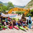 Day 32: Protest on the river Bence, Albania. Luckily, this construction site has been on hold. © Jan Pirnat