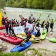 TAG 3 - Soča: Wie alle Flüsse der Balkan Rivers Tour ist auch die Soča bedroht. Neben den fünf großen und mehreren kleinen bestehenden Wasserkraftwerken sind viele weitere geplant, vor allem im oberen Soča-Becken. © Jan Pirnat
