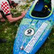 DAY 7 - Many have already signed the petition kayak during the tour.  © Jan Pirnat