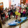 Day 29: A reception was organized for the kayakers in Tepelena (Albania), where the kayakers will be camping right by the Vjosa for the next 4 days.  © Jan Pirnat