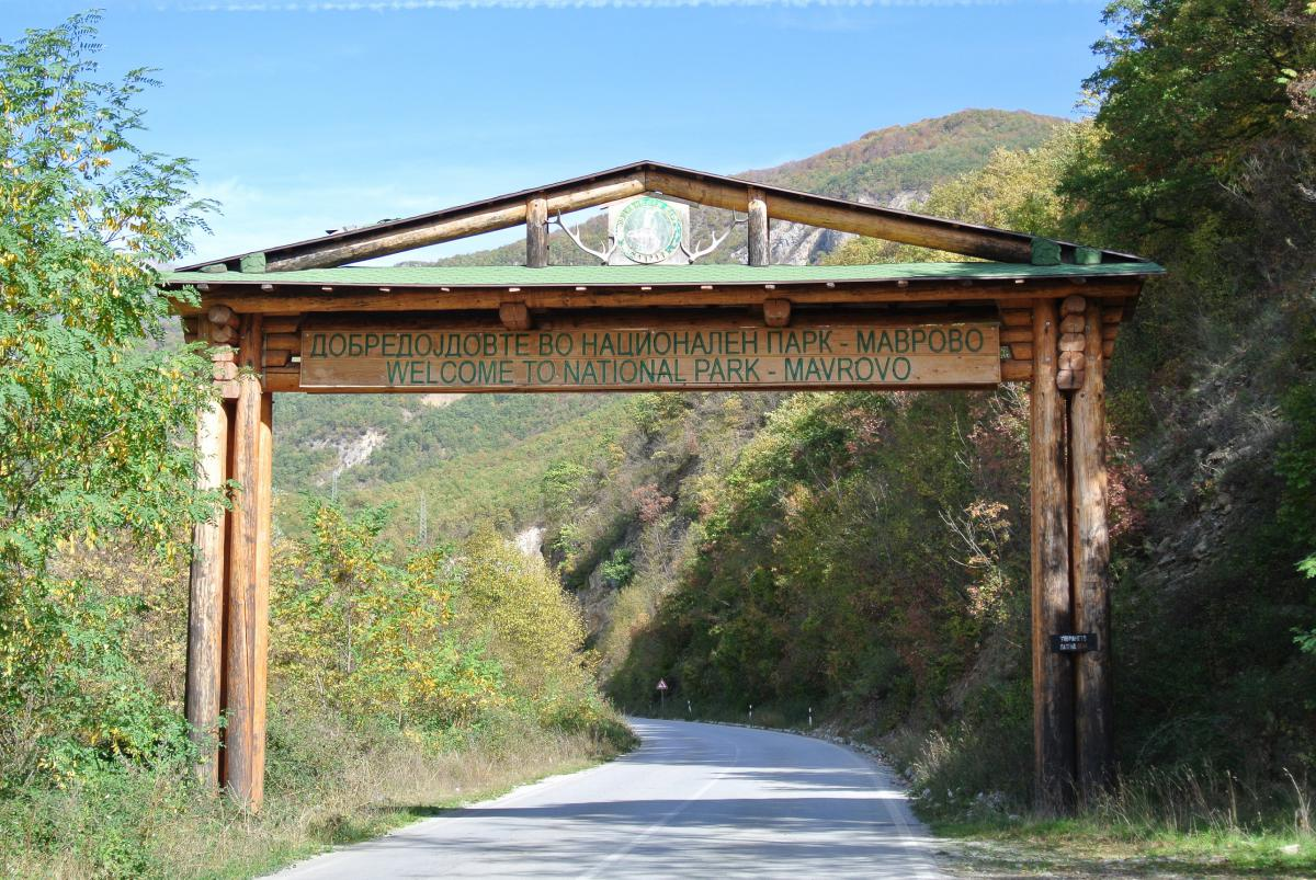 Portal of entrance of Mavrovo National Park: A total of 18 hydropower plants are projected within the territory of the park. Photo: Romy Durst