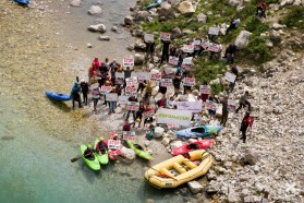 Day 23 – Protest on the Valbona river in Albania – local initiatives and international organisations for a free flowing Valbona