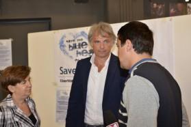 Ulrich Eichelmann, CEO of Riverwatch , giving public statement.