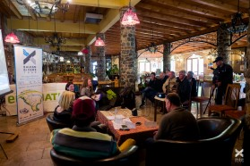 Day 19 - Press conference at Hotel Tutto inside Mavrovo National Park, just above River Radika