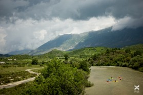 Day 31: Paddling the murky waters of Drino after the storm all the way to the basecamp in Tepelene.