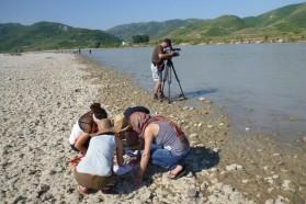Macrozoobenthos working group in action.