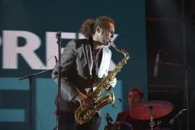 Saxophonist Ermal Rodi
