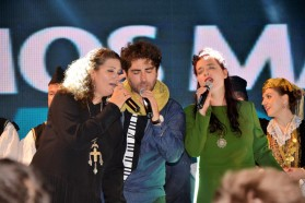 From left to right: Eda Zari, Vlashent Sata and Elina Duni