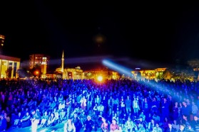 Over 4000 people attended the open air concert at the main square in Tirana