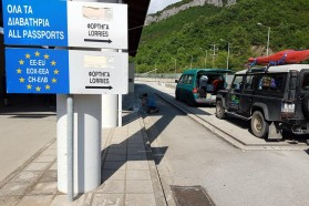 A little incubation session at the Greek/Albanian border crossing? Why not! Better make use of that wait for documents to be screened.