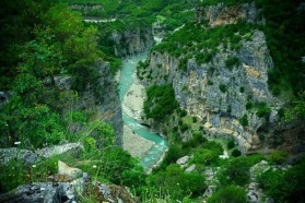 The Langaraica in Southeast Albania - a tributary to the Vjosa - is characterized by an impressive canyon 7 kilometer in length and 80 meter in depth, which was designated as natural monument in the 1970s. The 3 HPP projects along the Langarica are located inside the Fir of Hotova National Park, clearly contradict international guidelines of national parks.