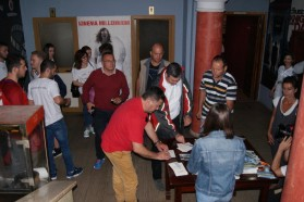 Due to rain, the screening had to be moved indoors to the Cinema Millennium of Shkodra.