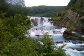 Štrbački Buk, the famous waterfall on the Una River, some 20 km downstream of Martin Brod.