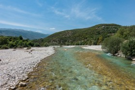 The Bence is a fast-flowing, crystal-clear tributary to the Vjosa just below Tepelena