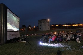 In cooperation with local organisations/NGOs, the outdoor screenings are facilitated by Solar Cinema Bus, a solar powered mobile cinema.