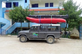 Accommodation at Hotel Pocemi on the Vjosa, just below the projected location for the Pocem dam – finally a proper bed!