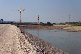 Ashta 1 dam on the Drin River in Albania.