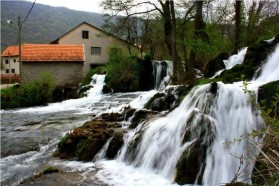 The river travertine forms a labyrinth of islands, channels and small waterfalls.