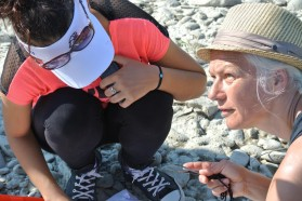 Monika Hess (on the right) - macrozoobenthos expert.