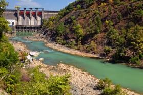 Shkopet dam on the Mat River in Albania.