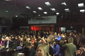 About 450 people attended the Blue Heart screening at the Crate Brewery in London on May 2nd.