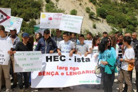 Students from Selenica also participated in the protest.