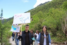 Students from the Biology Department of the University in Tirana.