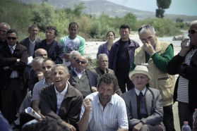 In the front row: the villagers from Anevjose, which will be mostly flooded by the projected Kalivaç dam.