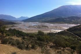 Vjosa River scenery.