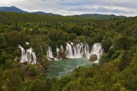 The Kravice Waterfalls in Bosnia&Herzegovina fed by the Trebižat River, a major tributary of the Neretva River.