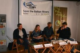 From left to right: Miroslav Žaberl/Slovenian Angling Alliance, Neža Posnjak/Save the Blue Heart of Europe Slovenia, Ulrich Eichelmann/Riverwatch, Steven Weiss/Karl-Franzens University Graz.