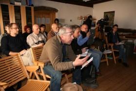 Big media interest: BBC, Deutsche Welle, Aljazeera, Slo TV, Delo and other print media were present.
