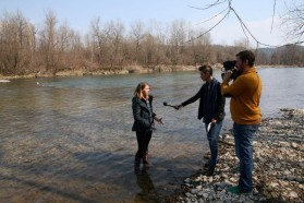 """""""In regards to the Huchen, Slovenia has a special responsibility within the EU. We urge the Slovenian government to protect all Huchen rivers"""" so Neža Posnjak, coordinator of the campaign in Slovenia."""