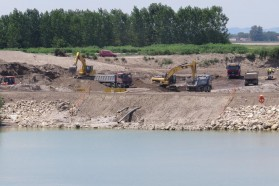 Brezice Dam construction site.