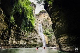 Day 26 – Osumi canyon, Albania. Locals have recognized the potential of this pearl for ecotourism – the Albanian Rafting Group offers tours through the canyon.