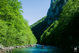 Day 11: Paddling the Neretva between Glavatičevo and Konjic with kayakers from from Slovenia, Bosnia, Montenegro and even Argentina!