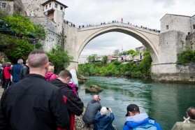 Day 12: Neretva at Mostar, Bosnia: today's tour started at the famous Tari Most (Old bridge)