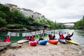 Day 12: Mostar, Bosnia: The BRT team supports locals in their fight against HPPs on Buna river