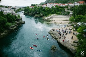 Day 12 - Mostar at the Neretva, Bosnia. View from the Tari Most