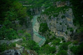 Canyon of the Langarica River - a tributary to the Vjosa that is also threatened by dams.