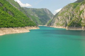 Piva reservoir in Montenegro.