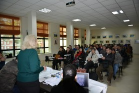 About 75 people attended the public discussion in Përmet in mid-December.